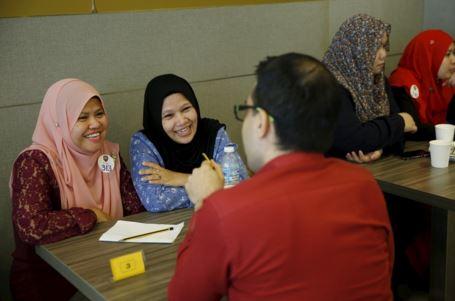 Sesi speed dating yang diadakan di KL. Imej daripada The National