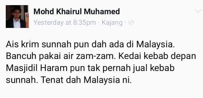 Respon netizen pasal eskim sunnah