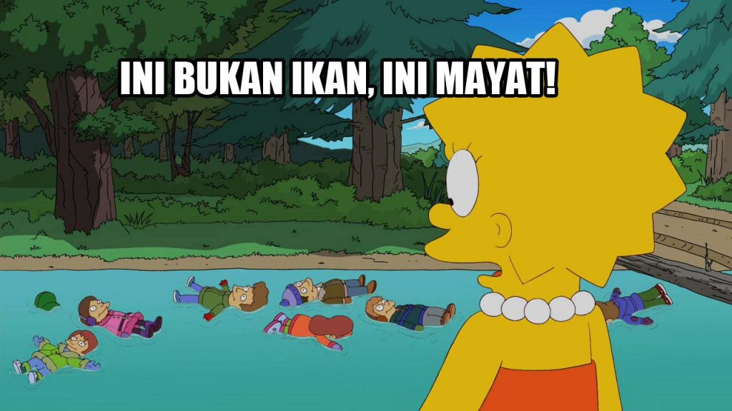 The simpsons body river