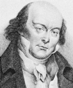 Pierre Jean de Beranger dipercayai menggubah melodi lagu Terang Bulan. Imej dari Britannica.
