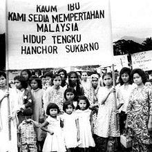 Tunjuk perasaan anti-Soekarno. Imej dari Wikipedia