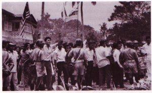 Demonstrasi di kedutaan Indonesia. Imej dari Hari Itu Sudah Berlalu