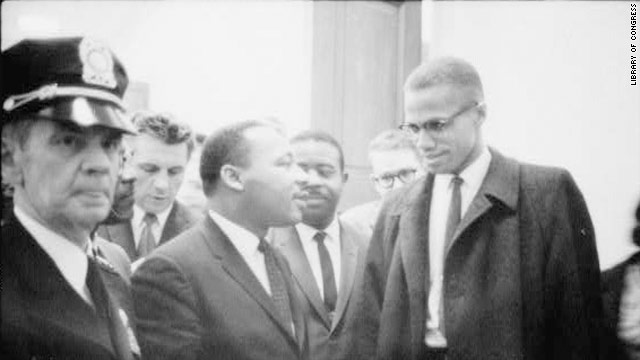 Malcolm X dan Martin Luther King Jr.