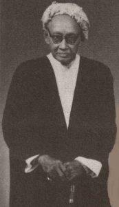 Gambar ketika Sheikh Tahir Jalaluddin bersusia 87 tahun pada 13 Oct 1956. Imej dari the earlymalaydoctors.