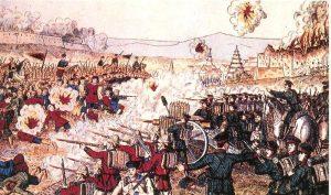 Pemberontakan Boxer berlaku apabila rakyat China cuba menentang pengaruh orang asing di China. Imej dari Find The Data.
