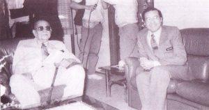 Dr Mahthir melawat Tunku Abdul Rahman di kediaman rasmi Tunku di Jalan Putra, Kuala Lumpur pada 12 Nov 1989. Imej dari Surat daripada Dr Mahathir.