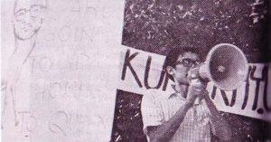 Demonstrasi anti-Tunku selepas peristiwa 13 Mei 1969. Imej dari 13 Mei Sebelum dan Selepas