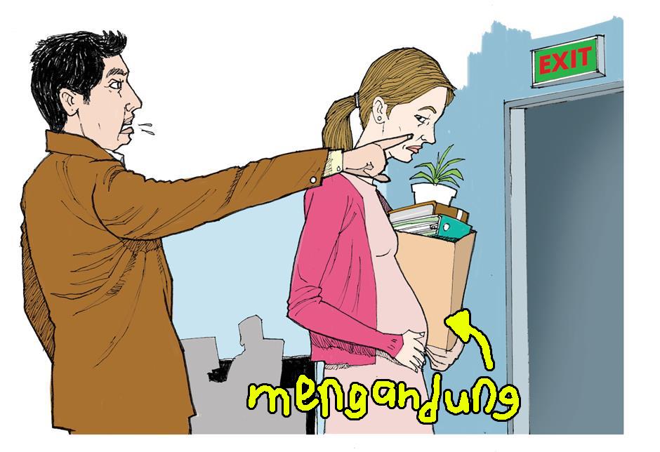 Di Malaysia, jika korang pregnant, korang akan lebih mudah untuk dipecat. Tetapi seorang wanita yang telah dipecat semasa pregnant boleh mengemukakan aduan pemecatan yang tidak adil kepada HR di tempat kerja atau Pejabat Perhubungan Perusahaan. Imej dari Star 2.