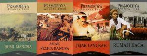 Empat karya agung Pramoedya dari penjara. Imej dari abighifari.wordpress
