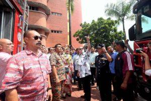 Sultan Johor, Sultan Ibrahim Iskandar, ketika di HSA. Imej dari Warta Daily.