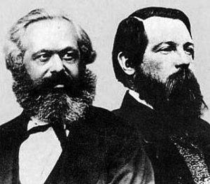 Dari kiri: Karl Marx dan Friedrich Engels. Imej dari critical-theory.com