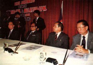 Perjanjian ini akhirnya membawa kepada pembubaran dan perletakan senjata PKM. Imej dari Wikipedia.