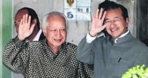 Krisis Kewangan Asia juga jadi faktor pengunduran Suharto dari jawatan Presiden. Imej dari historycontroversy.blogspot.