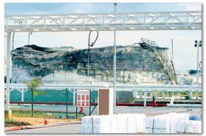 Keadaan terminal lepas kebakaran dipadamkan. Imej dari Kosmo.
